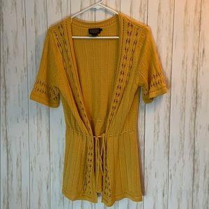 Pendleton Mustard Yellow Short Sleeve Cardigan